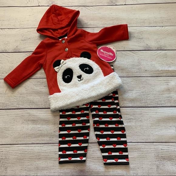 Nannett Kids Panda Outfit Size 3-6 Months